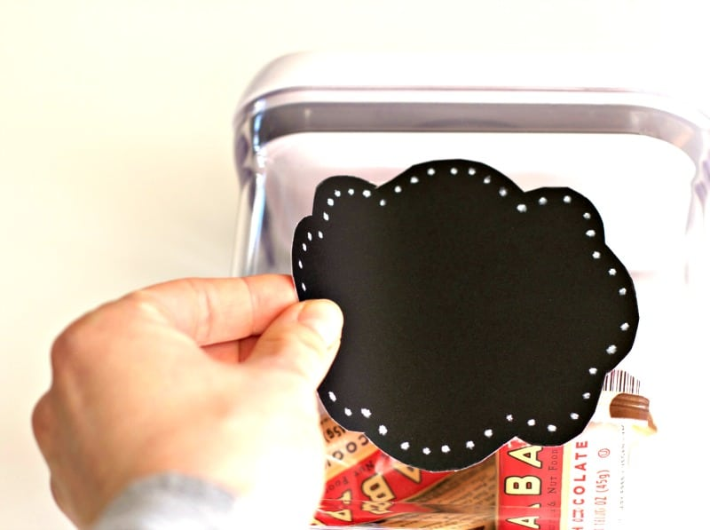 Adding Chalkboard Labels to Bins