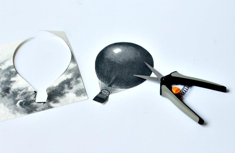 Cutting Hot Air Balloon