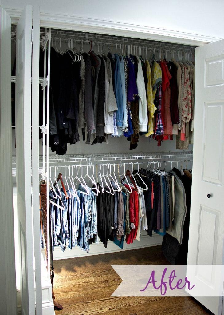 "Organized closet to demonstrate ""After"" #closetorganization"