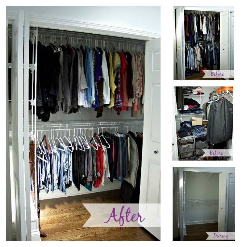 Closet Collage of the entire process: before, during, and after
