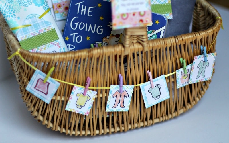 Lots Of Love And More Laundry Baby Shower Gift Basket With Tags