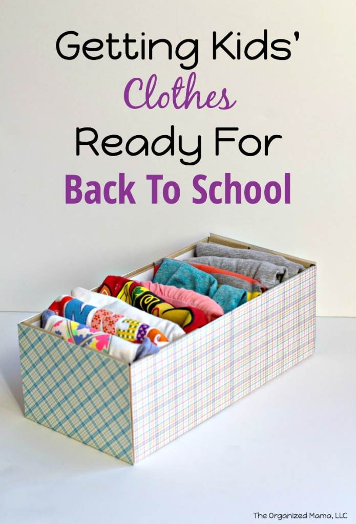 Getting Clothes Ready Back To School
