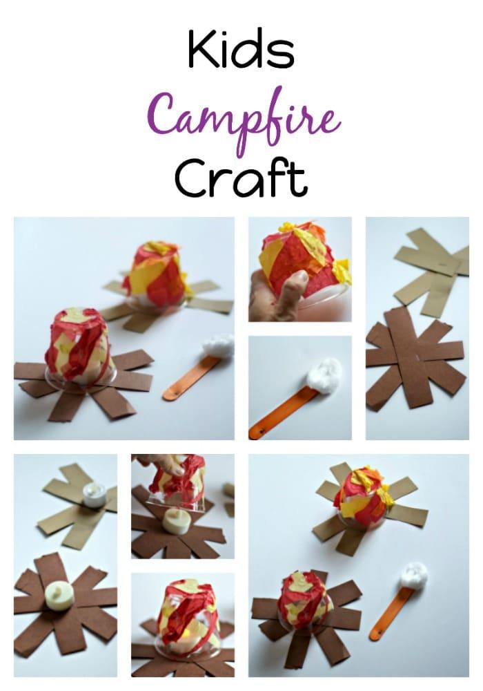 Kids Campfire Craft Tutorial