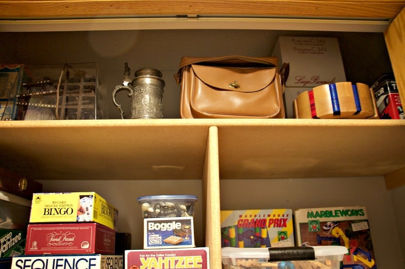 Top Shelf Game Closet