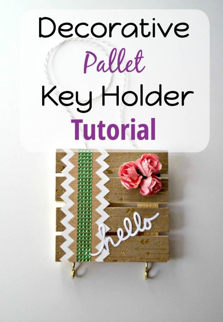 Decorative Pallet Key Holder Tutorial