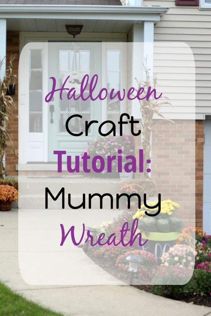 halloween-craft-tutorial-mummy-wreath