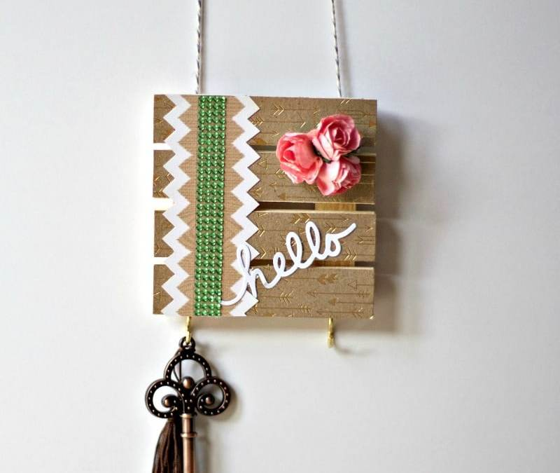 Getting Crafty With Keys: Decorative Pallet Key Hanger