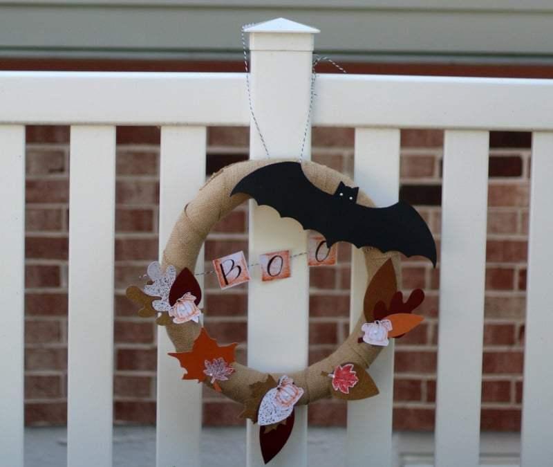 Burlap Halloween Wreath Tutorial