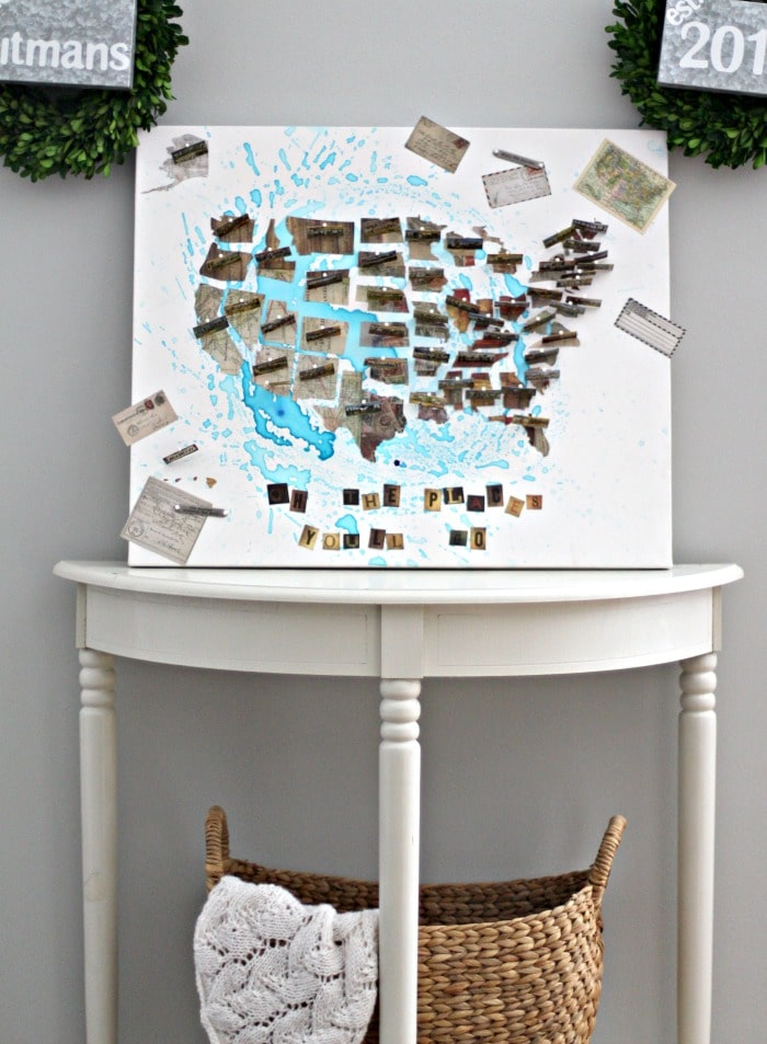 map-on-table