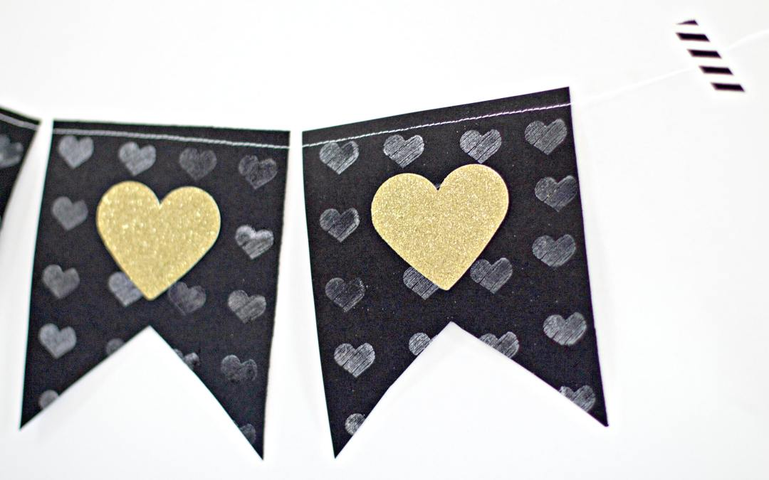 Glittery Banner Tutorial Perfect For Valentine's Day