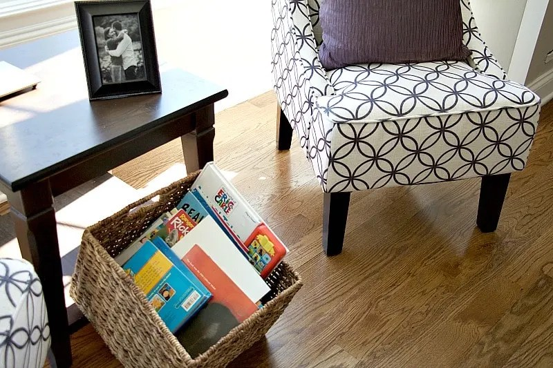 Books Under End Table Living Room