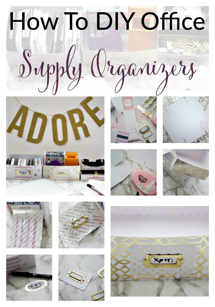 How to DIY Office Supply Organizers for Your Desk