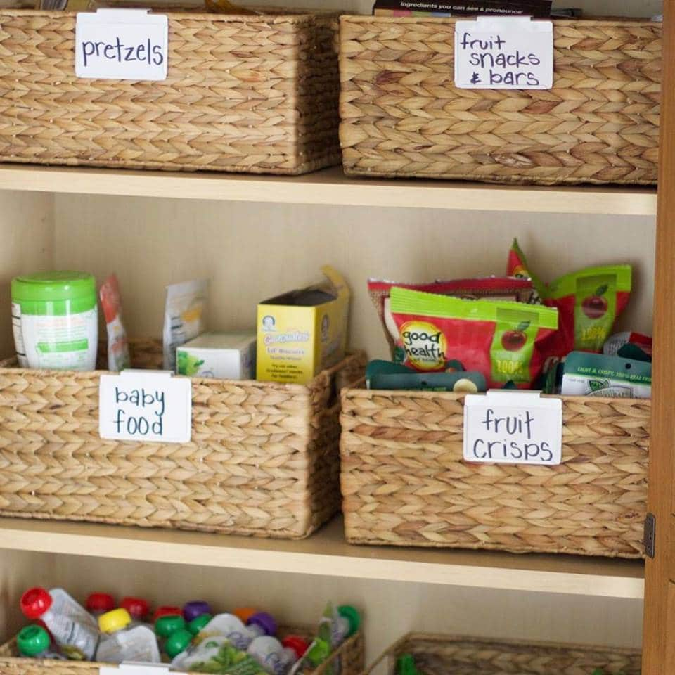 Pantry Organization with Baskets