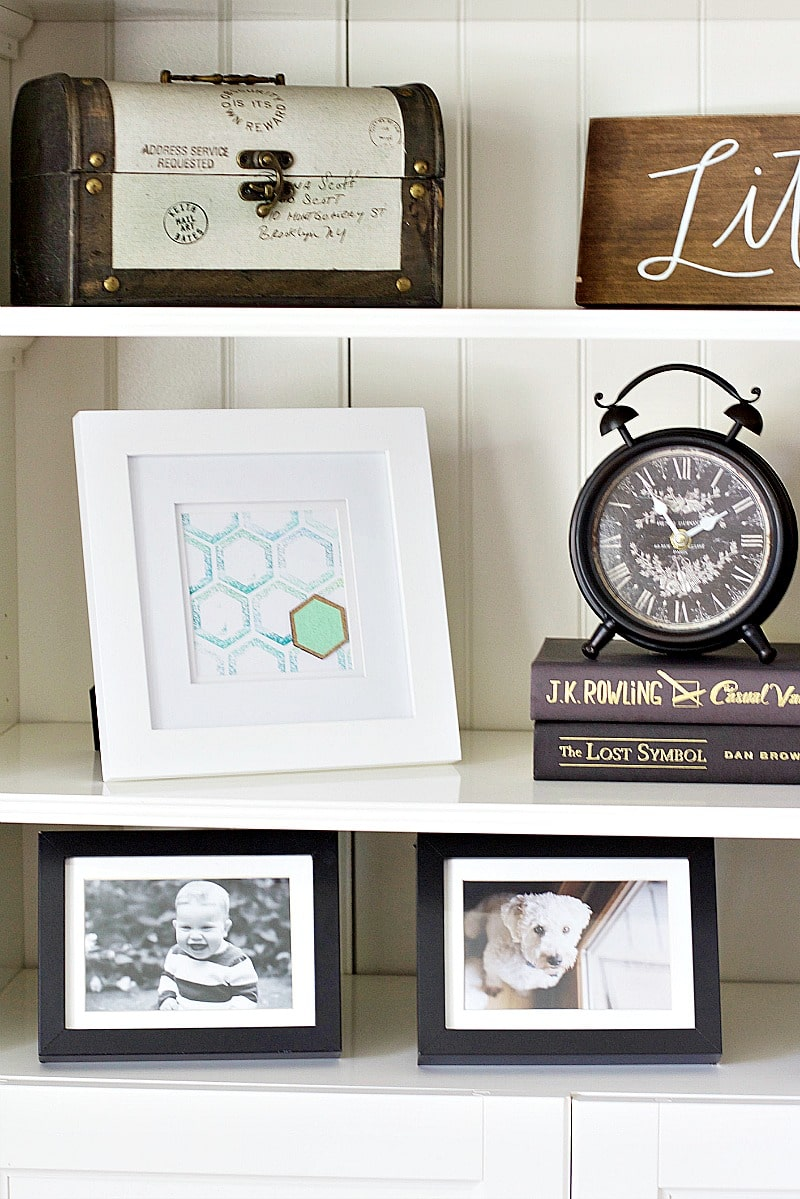 DIY hexagon print tutorial
