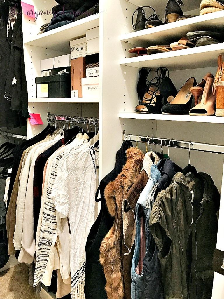 how to organize a closet on a budget