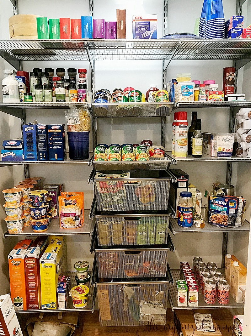 pantry with elfa system