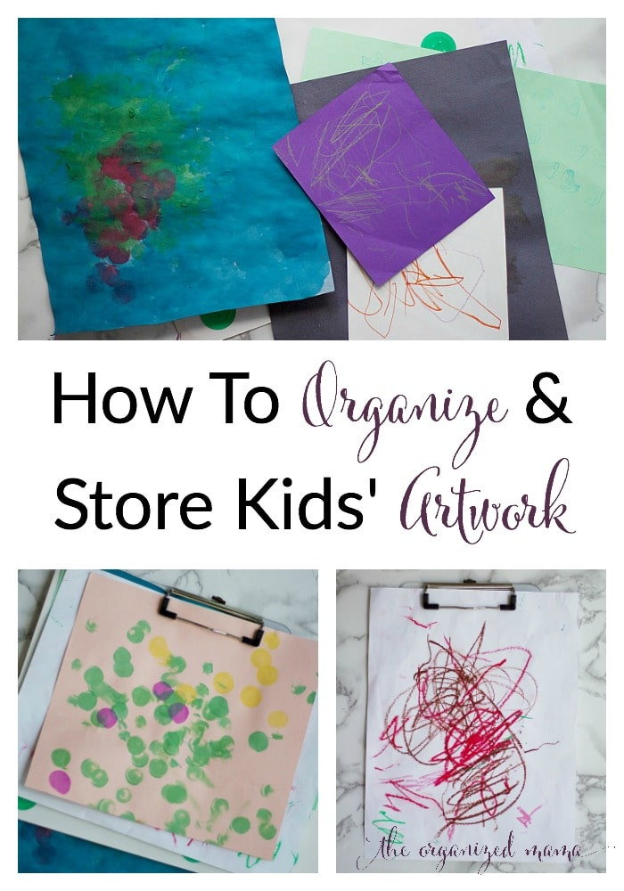 How To Organized Store Kids Artwork