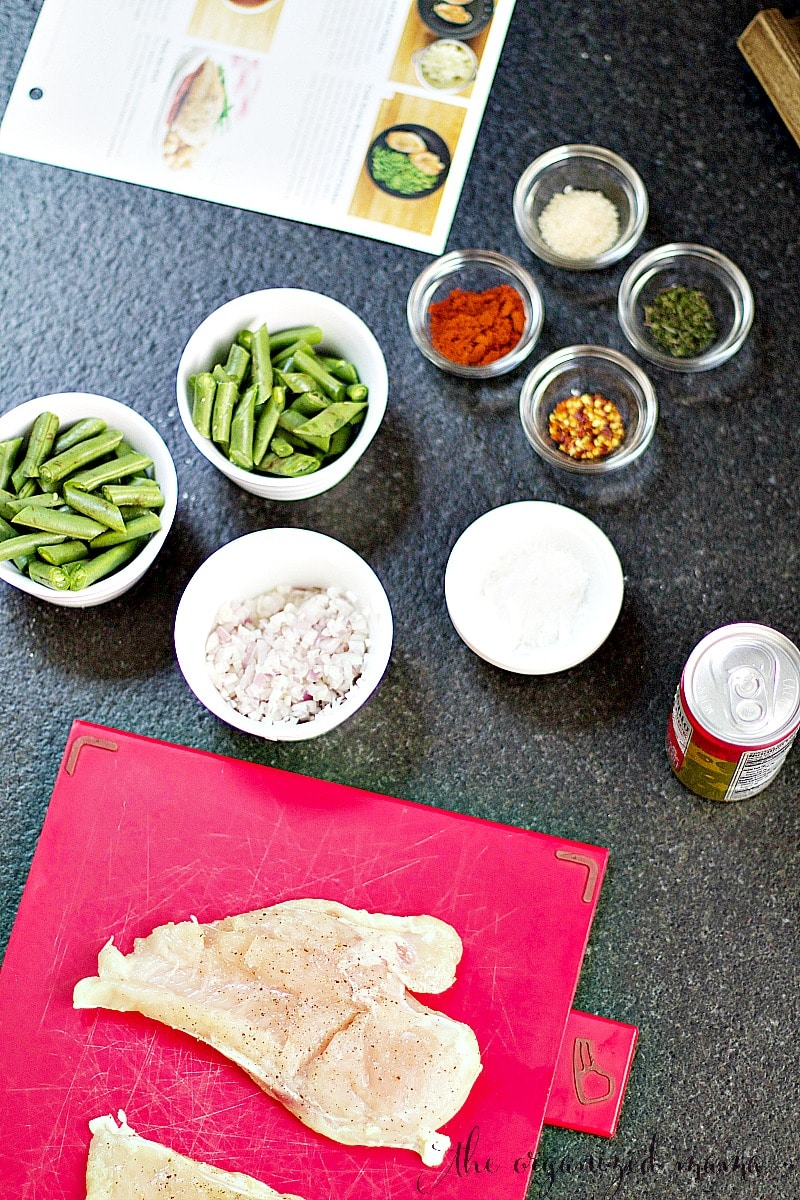cooking with home chef organizing family meal plans