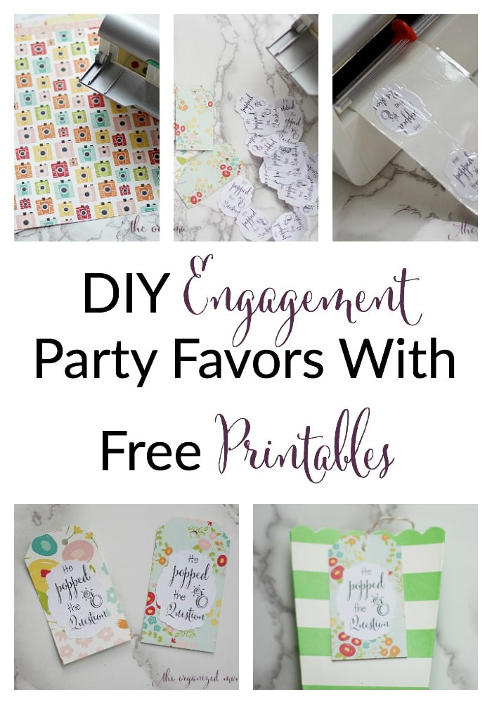 DIY Engagement Party Favors with Free Printables