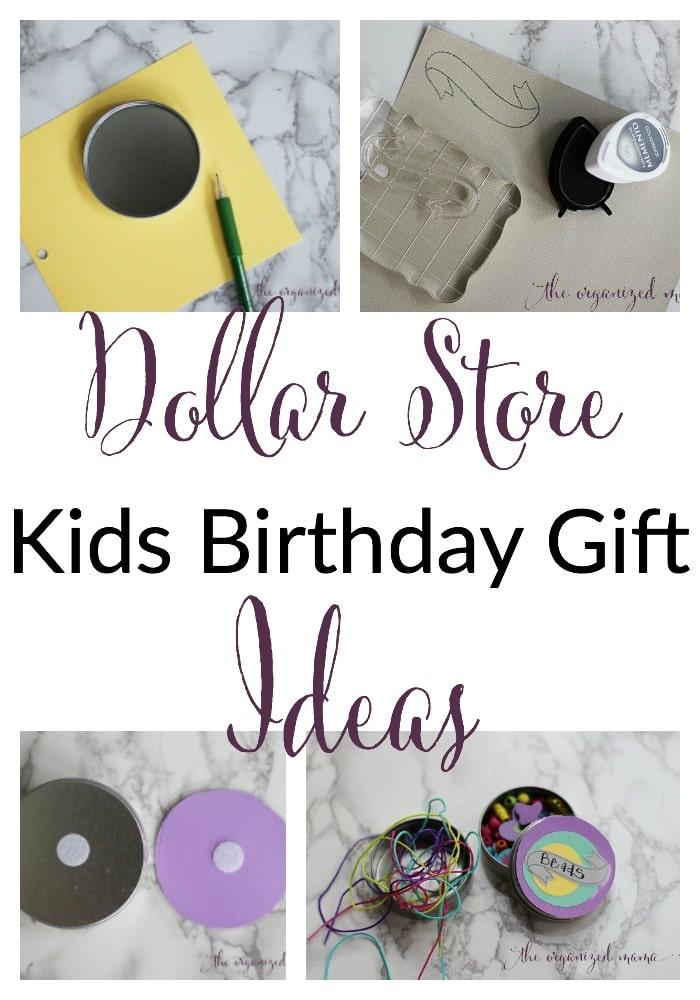 diy dollar store kids birthday gift ideas