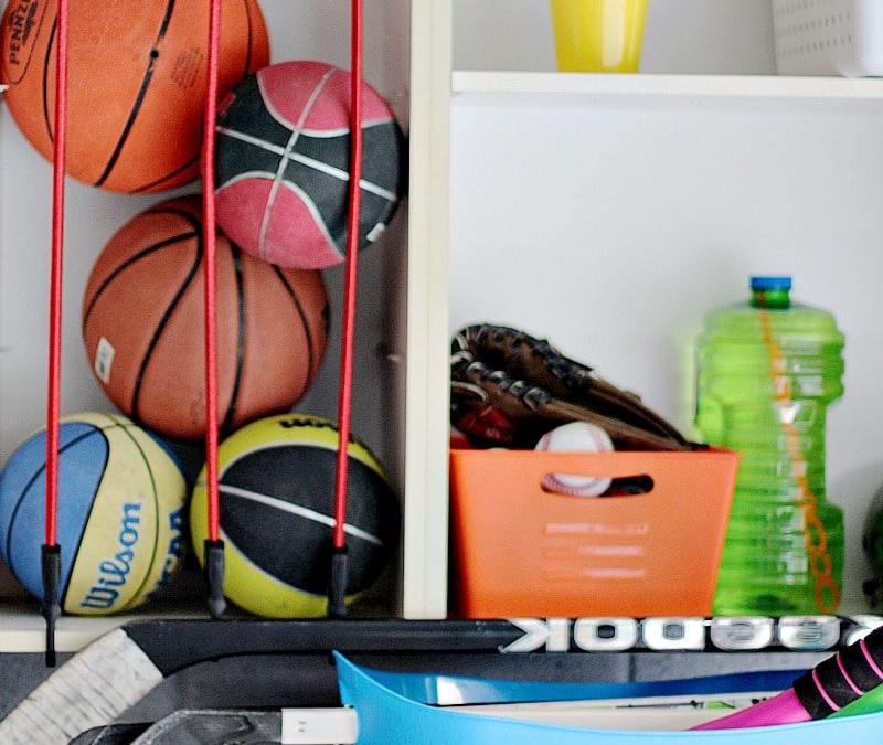 Sports Ball Garage Storage Solution