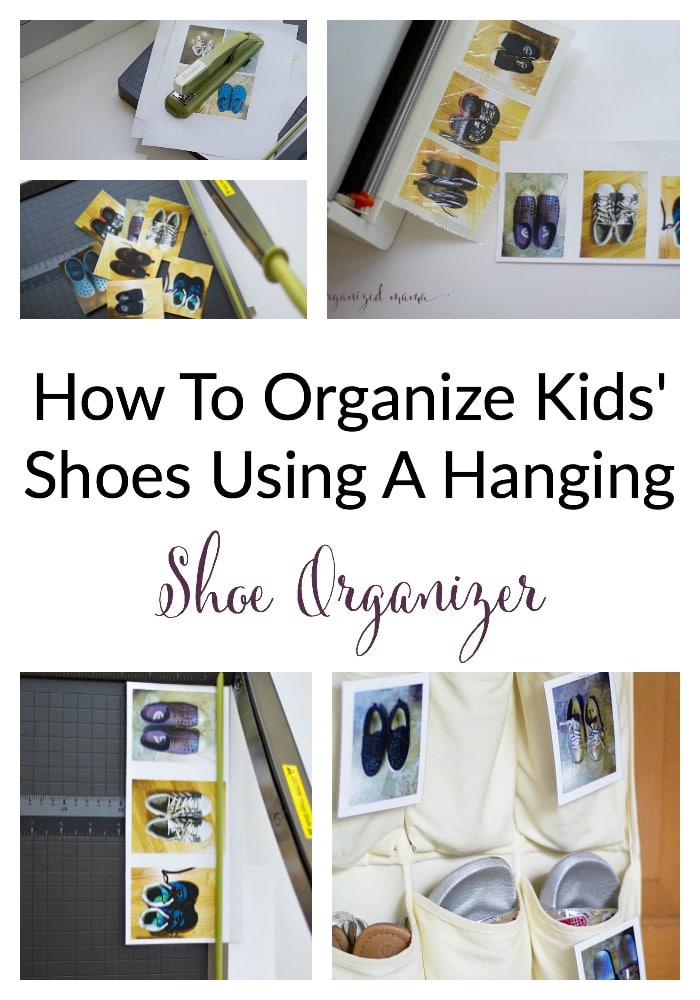 how to organize kids shoes using a hanging shoe organizer