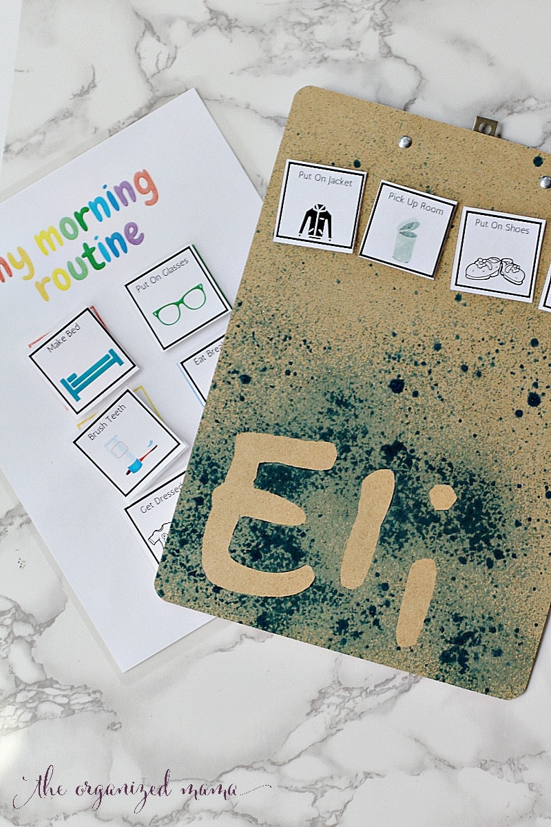 back to school diy personalized clip boards