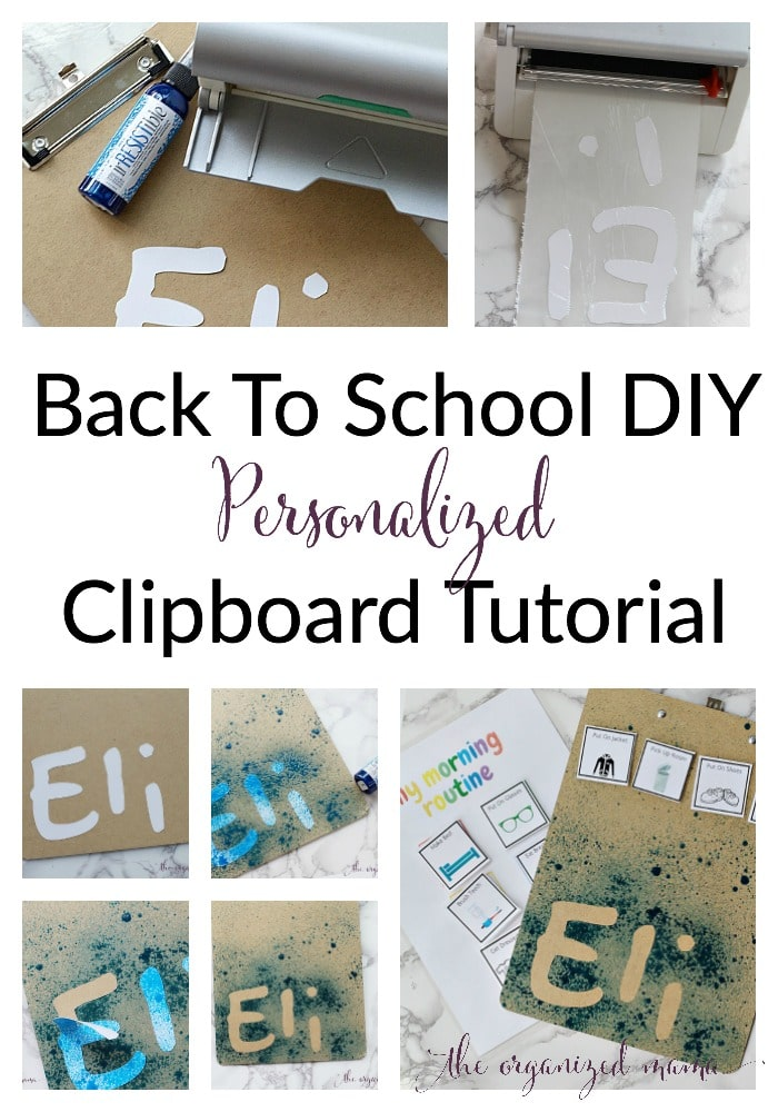 back to school diy personalized clipboard tutorial
