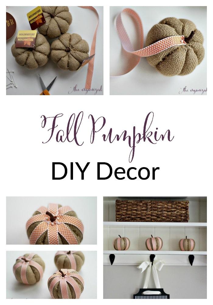 fall pumpkin diy decor tutorial