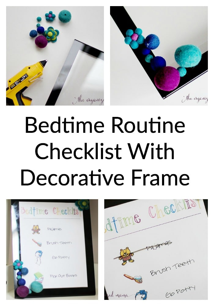 Bedtime Routine Checklist With Decorative Frame