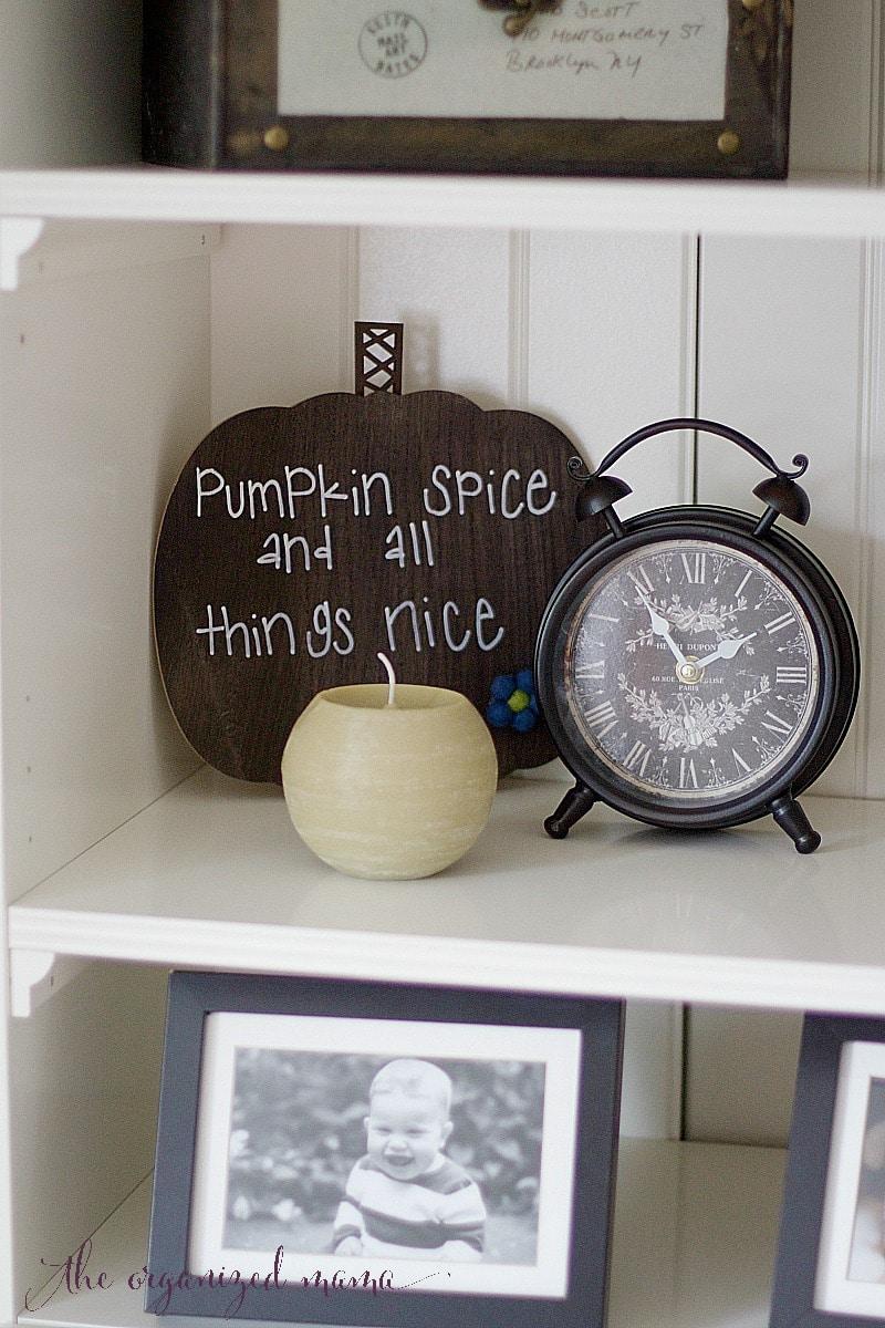 shelves pumpkin spice pastel fall home tour