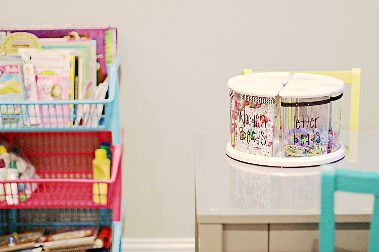 art room how to organize kids beads