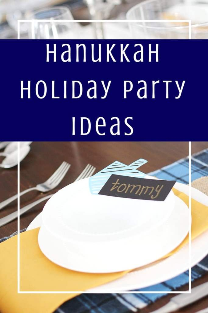 When it comes time to the holidays, planning your party shouldn't be stressful! Easy ways to decorate for your Hanukkah holiday party! #hanukkah #eventplanning