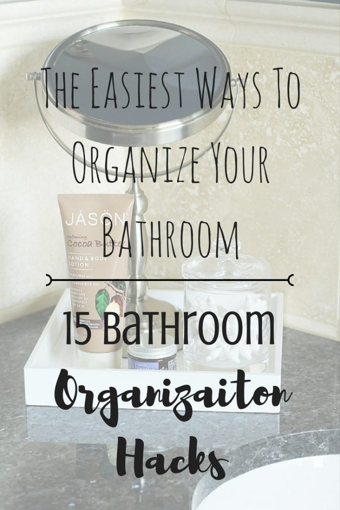 Bathroom organization hacks from a professional organizer can help anyone tidy up their bathrooms, as these tips have been tested and work! #bathroom #organize #lifehack