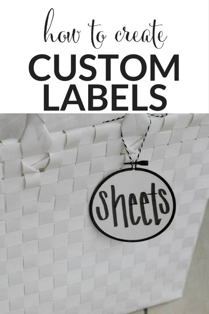 Want those custom labels you see around Instagram and Pinterest, but don't want to spend a ton? This easy tutorial shows you how to create custom labels yourself! #labels #organize #organizing