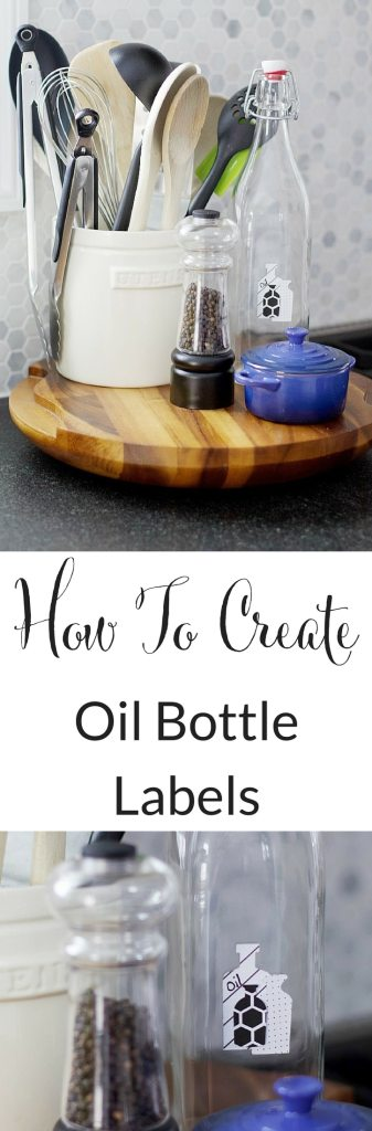 Give your oil bottles labels that will last! This easy tutorial will show you how to add labels to oil bottles so you know what is in each bottle. #oilbottle #labels