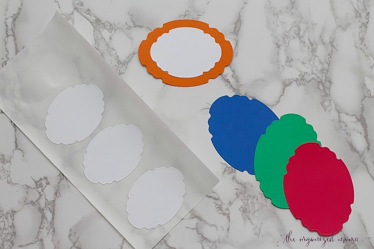 Create colorful custom sticker labels using the Xyron Creative Station and sticker refill.