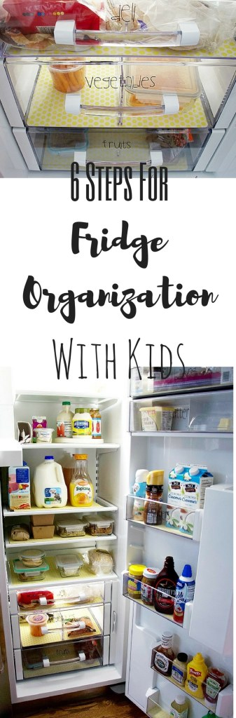 6 Steps For Fridge Organization With Kids