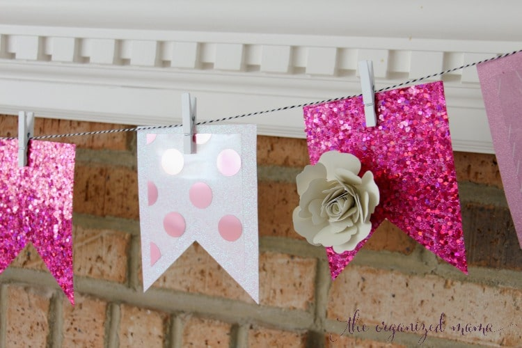Pretty In Pink Spring Mantel Decor
