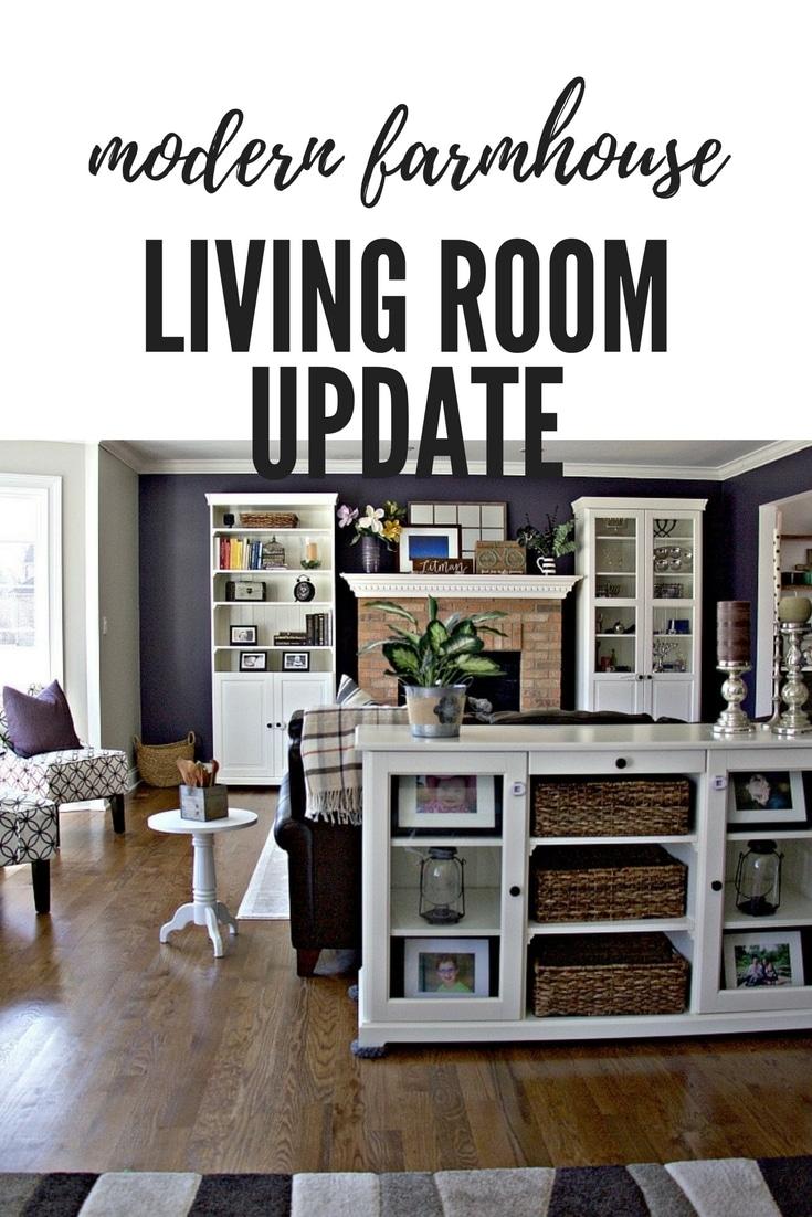 Modern Farmhouse Decor Living Room Update , The Organized Mama