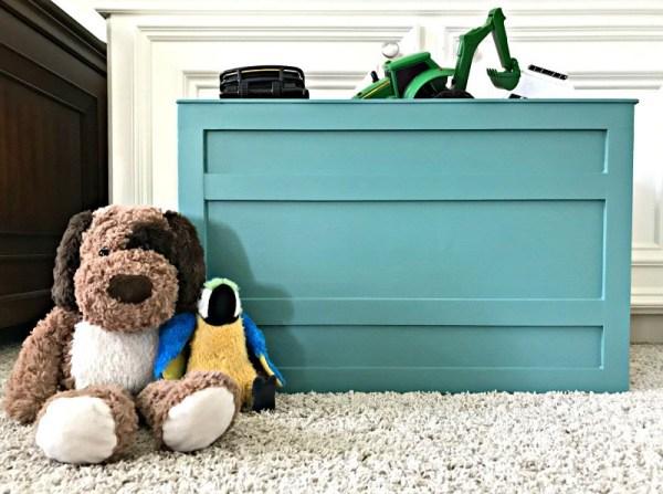 wooden toy storage crate diy image