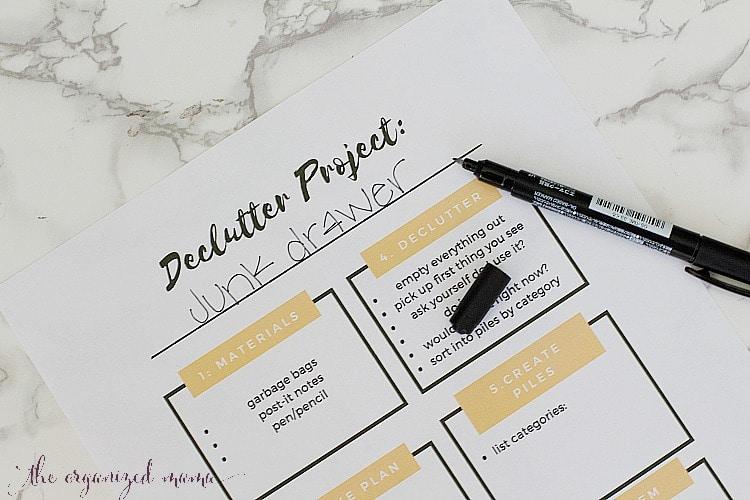 Declutter Printable