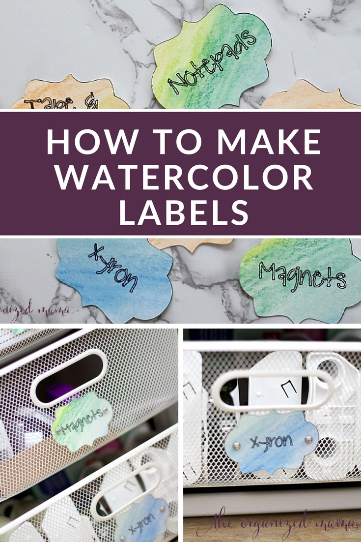 Follow this basic tutorial for creating your own watercolor labels using Derwent watercolor pencils and Xyron laminate for the perfect crafty label. #labels #crafts