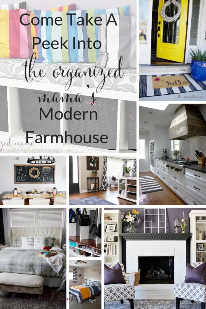 Modern Farmhouse Tour of The Organized Mama's Chicago Home