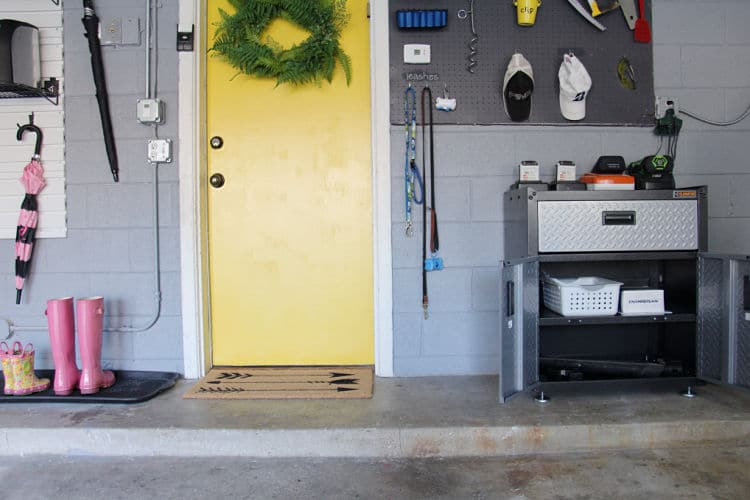 Professional organizer shares her tips for how to create effective garden tool storage using products from Lowe's Home Improvement Store! #organized #tools #garden