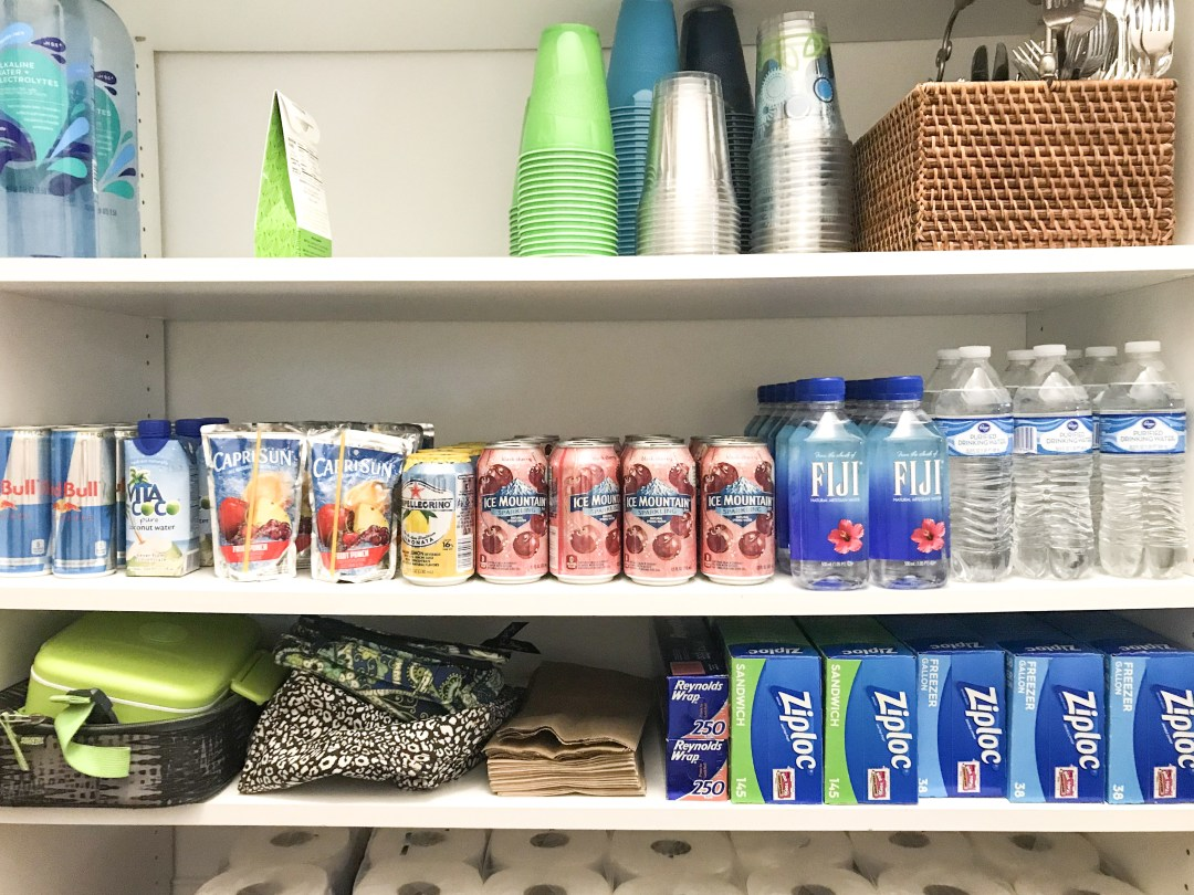how to organize a pantry with effective storage for beverages