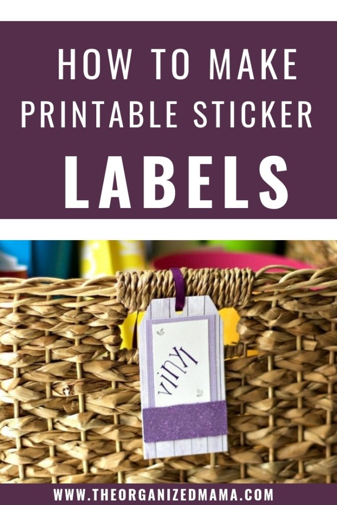 learn how to create custom printable stickers labels to complete any organizing job around yoru home!