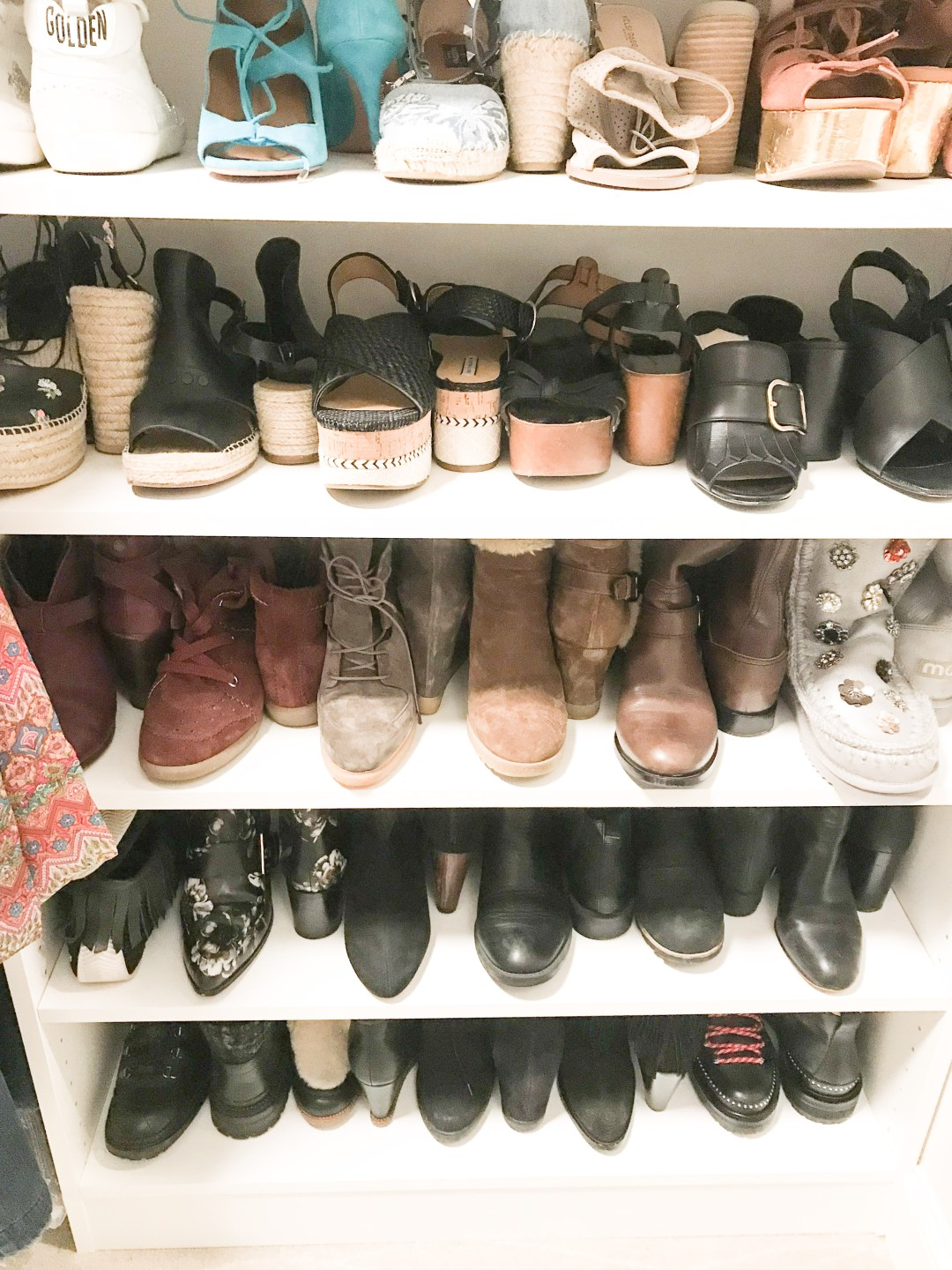shoe organization closets