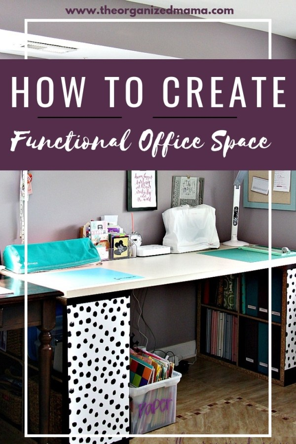 Learn tips for how to create a functional small office design with product recommendations, floor plan, and inspiration board. #office #moodboard