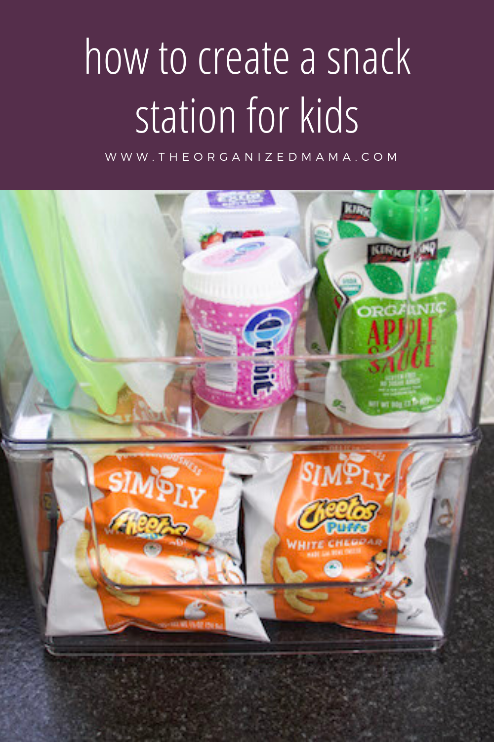 how to create a snack station for kids